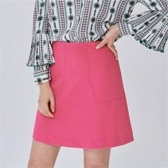 MAGJAY - Zip-Back A-Line Skirt