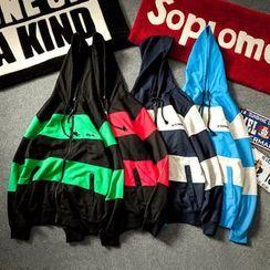 Alvicio - Colour Block Hooded Jacket