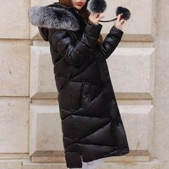 Donnae - Faux Fur Trim Hooded Padded Coat