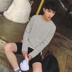 MEING - Long-Sleeve Striped T-Shirt
