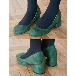 FROMBEGINNING - Faux-Suede Pumps