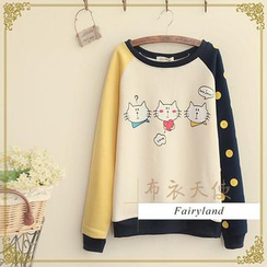 Fairyland - Cat Print Pullover