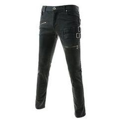 TheLees - Buckle-Trim Skinny Pants