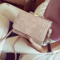 Clair Fashion - 韩版蝴蝶结造型编织包侧背包