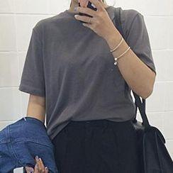 Eva Fashion - Dip-Back Short-Sleeve T-Shirt