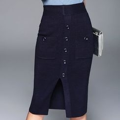 Queen Mulock - Midi Skirt