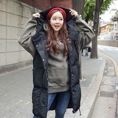 Envy Look - Sleeveless Hooded Long Padded Coat