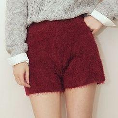 Shatan - Mohair Knit Shorts