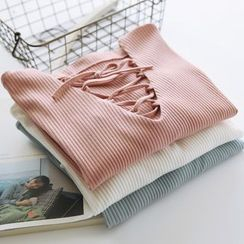 布丁坊 - 系带长袖T恤
