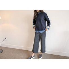 Hello sweety - Band-Waist Corduroy Pants