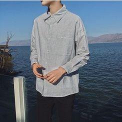 Arthur Look - Pinstriped Long-Sleeve Shirt