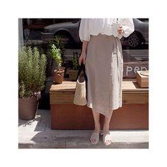 MASoeur - Tie-Waist Wrap Midi Skirt