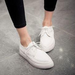 天姿 - 尖头系带鞋