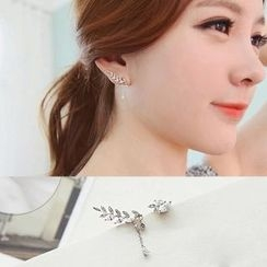 Avery - Sterling Silver Leaves Non-matching Earrings