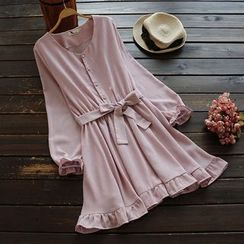 YOYO - Ruffled Chiffon Dress