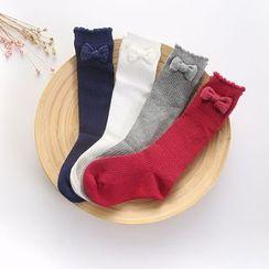 Seashells Kids - Kids Bow Accent Long Socks