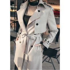 Chlo.D.Manon - Epaulet Flap-Detail Trench Coat with Sash