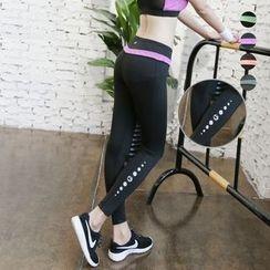Wheatfield - Color-Block Sport Training Pants