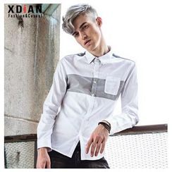 Dot2Dot - Striped Panel Shirt