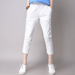 Fashion Street - Band Waist Cropped Pants