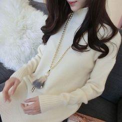 lilygirl - 小高领针织上衣
