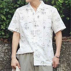 MITOSHOP - Short-Sleeve Printed Shirt