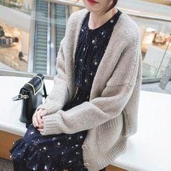 mimi&didi - Drop-Shoulder Wool Blend Cardigan