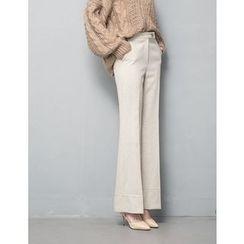 GUMZZI - Wool Blend Pants