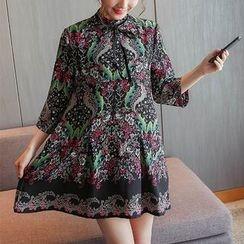 Soswift - 孕婦花紋哺乳連衣裙