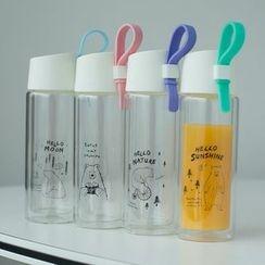 Wild Peach - 卡通印花玻璃水瓶