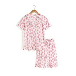 Yobaby - Family Matching Pajama Set: Print Short-Sleeve Top + Pants