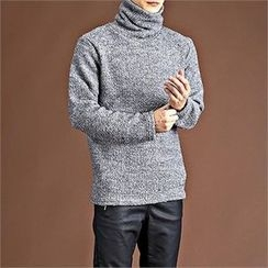 THE COVER - Cowl-Neck Wool Blend Sweater