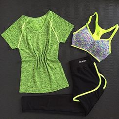 OneRoad - Set: Quick Dry T-Shirt + Sports Bra + Pants