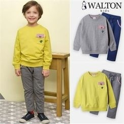 WALTON kids - Boys Set: Pocket-Detail Sweatshirt + Sweatpants