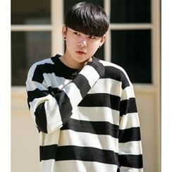 ABOKI - Crew-Neck Stripe Sweater
