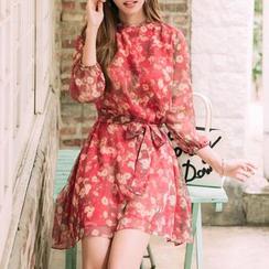 Jolly Club - Floral Chiffon Dress