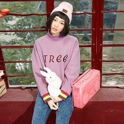 Sam's Tree - Mock-Neck Embroidered Pullover
