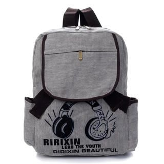 19th Street - Printed Flap Denim Backpack