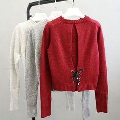 Phantasy - Lace Up Knit Top