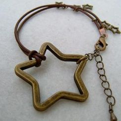 MyLittleThing - Copper Stars Leather Bracelet