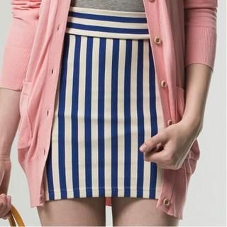 Life 8 - Striped Pencil Skirt