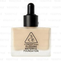 3 CONCEPT EYES - Glossing Waterful Foundation SPF 15 PA+ (Milky Ivory)
