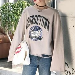 Dute - Printed Long Sleeve T-Shirt