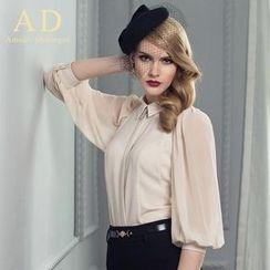 Aision - 七分袖雪纺衬衫