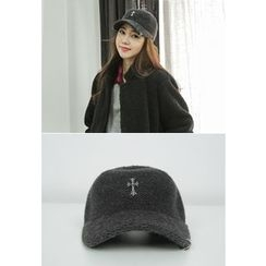 REDOPIN - Metallic-Detail Knit Baseball Cap