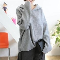 CHICFOX - Drop-Shoulder Hooded Top