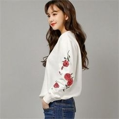 Styleberry - Floral Embroidered Pullover