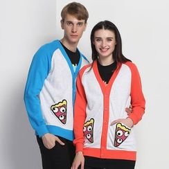 HappyTee - Applique Couple Raglan Cardigan