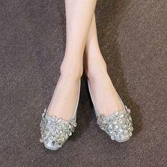傾城 - 水鑽平跟鞋