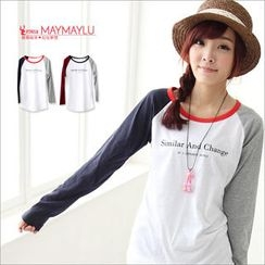 Maymaylu Dreams - Raglan-Sleeve Printed Long T-Shirt